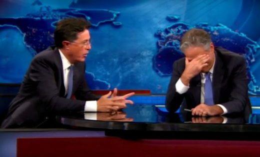 Jon Stewart & Colbert