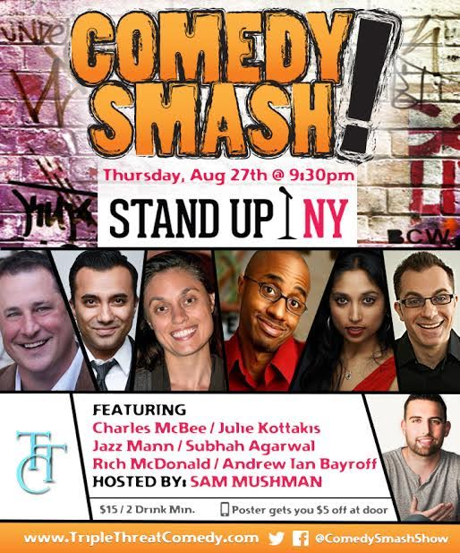 Comedy Smash! Series a Stand Up NY