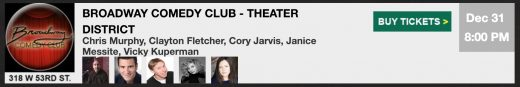 Broadway-Comedy-Club New Years Eve Tickets
