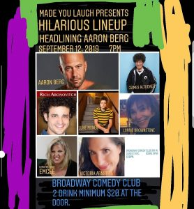Aaron Berg at Broadway Comedy Club